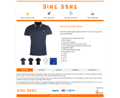 The minimal Mobile Responsive eBay HTML Listing Template : DingDong (Header)