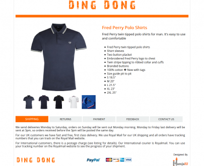 The minimal Mobile Responsive eBay HTML Listing Template : DingDong (Logo)