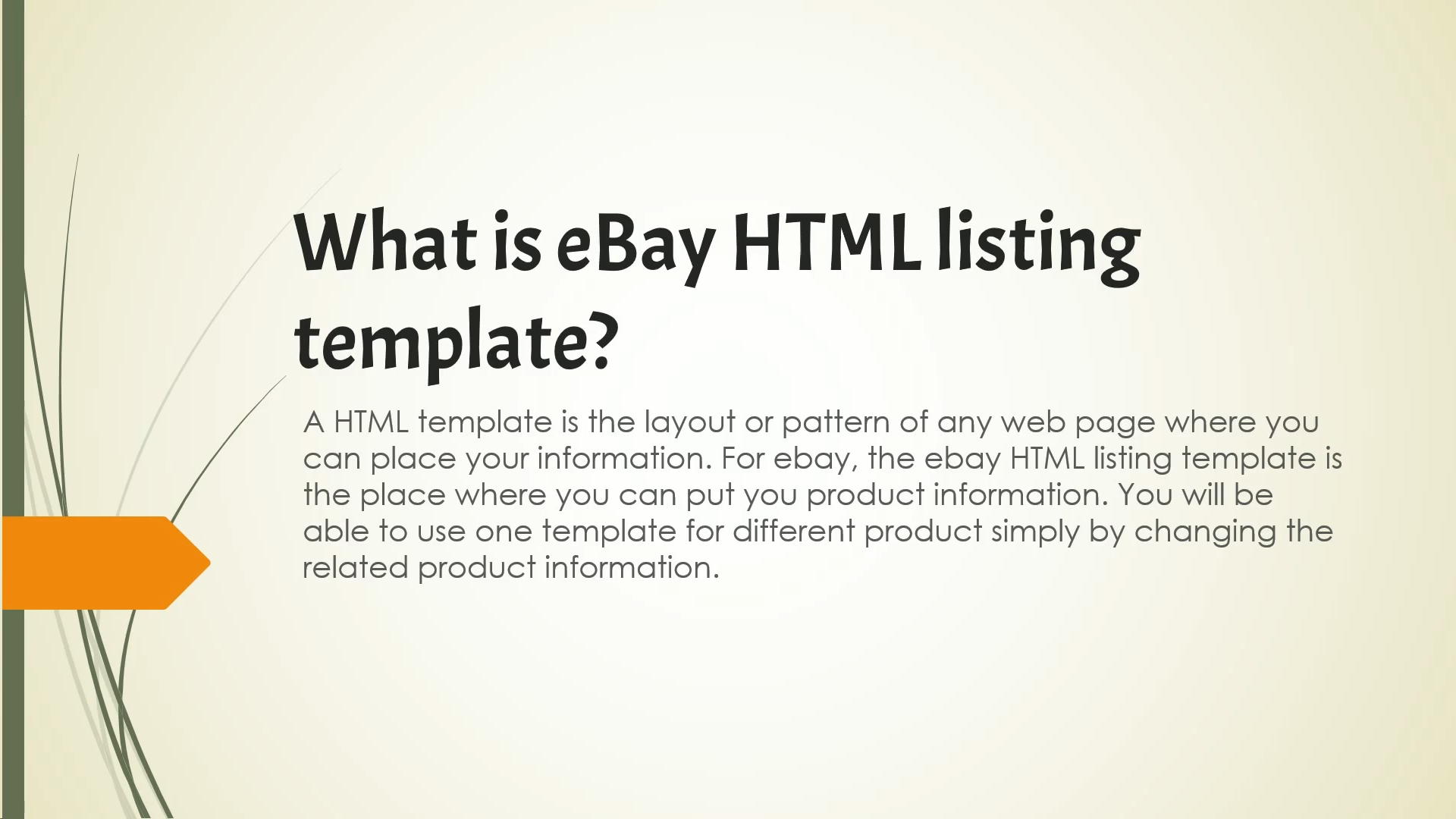 What is an eBay listing template?