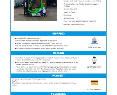 Mobile Responsive eBay HTML Listing Template : Robi (Logo)