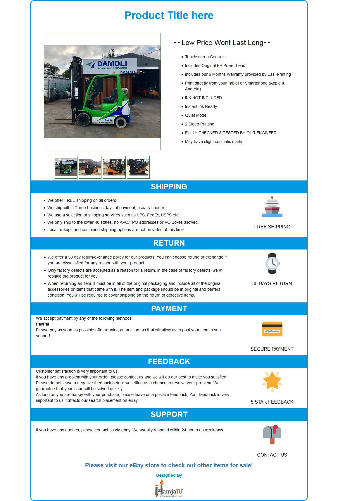 Mobile Responsive Ebay Html Listing Template Robi Shop Blueprint
