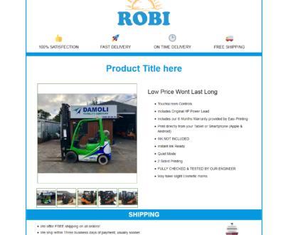 Mobile Responsive eBay HTML Listing Template : Robi (Header)