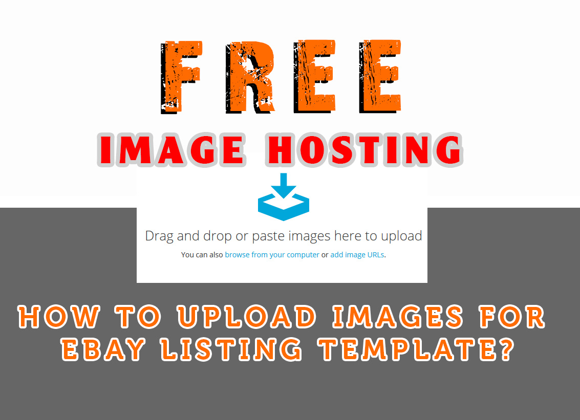 How to free upload images for eBay listing template?